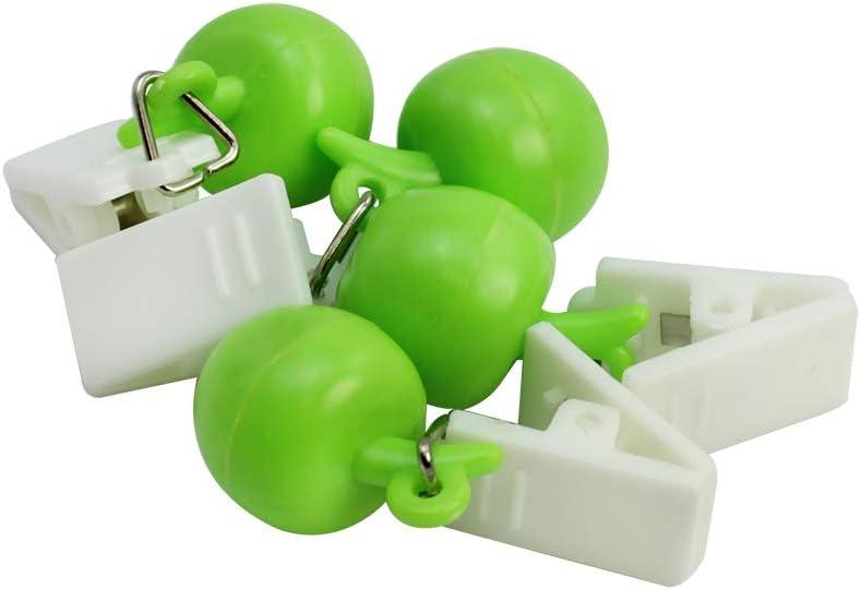 8 Pezzi - Mela com-four/® 8X Peso della tovaglia con Clip 18g Pesi della tovaglia in Design Frutta