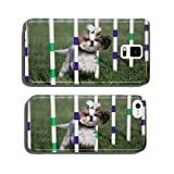 Lhaso Apso dog going through weaves on agility course cell phone cover case iPhone6