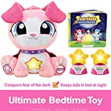 Starshine Watchdogs Skye Talking Stuffed Animal Nighttime Toy, Remote Control Children's Night-Lights, Comforting Phrases, Calming Story Book. 4pc Ready-for-Bed Set. Plus Free Coloring Pages! Pink
