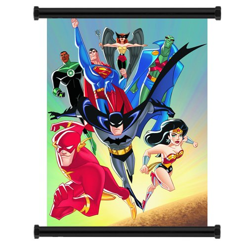 Justice League Comic Fabric Wall Scroll Poster (16 x 20) Inches (Justice League Fabric Poster)