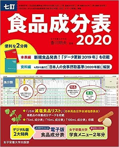 七訂食品成分表2020