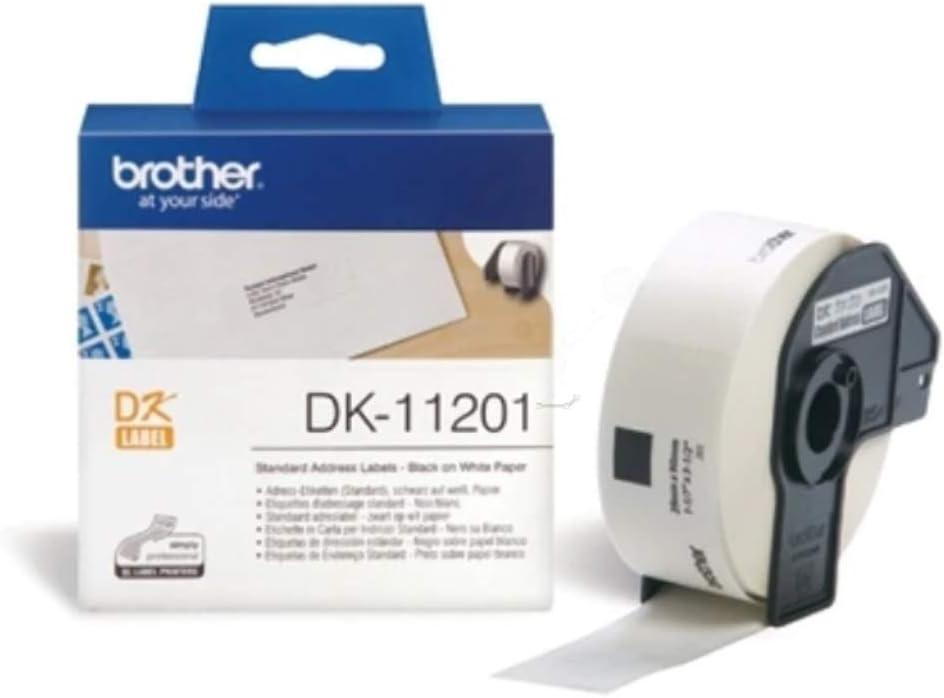 29 x 90 mm BROTHER /Étiquettes dadresse 400 /étiquettes//Rouleau DK-11201 Blanc
