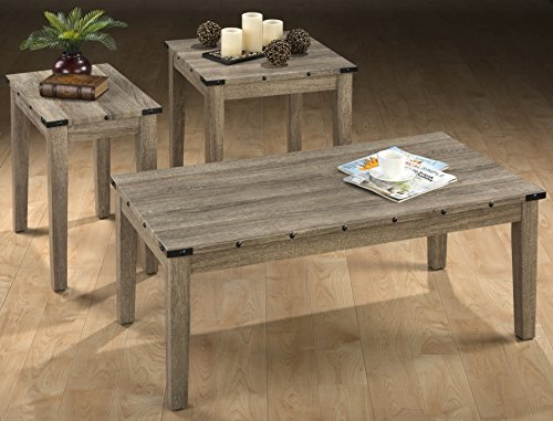 3 Piece Oak Cocktail Table - Jofran 138, Taos, Oak Three Pack Tables, Cocktail Table, 48