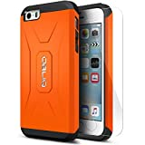 iPhone 5S Case, Obliq [Heavy Duty][Xtreme Pro][Orange] w/ HD Screen Protector - Premium Slim Fit Dual Layered Hard Tough Protection Case for Apple iPhone 5S & iPhone 5