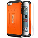 iPhone 5C Case, Obliq [Heavy Duty][Xtreme Pro][Orange] w/ HD Screen Protector - Premium Slim Fit Dual Layered Hard Tough Protection Case for Apple iPhone 5c