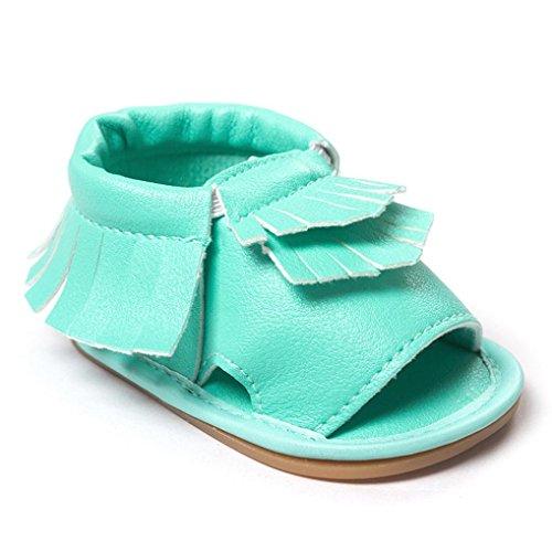 Transer ,  Baby Mädchen Unisex Babys Baby, Jungen Durchgängies Plateau Sandalen mit Keilabsatz Grün