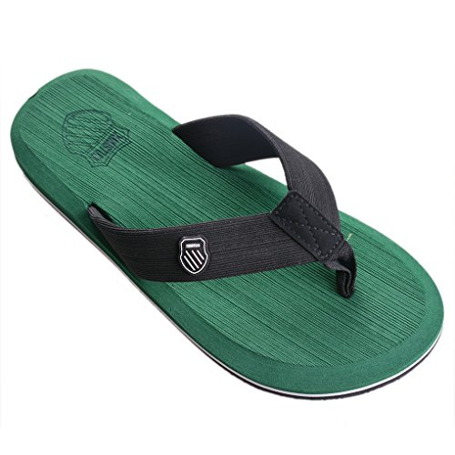 Flip Summer Slippers Beach Flat Anti Flop Green Slipper Slip Vervie Sandals Men's 7AxZEwpaq