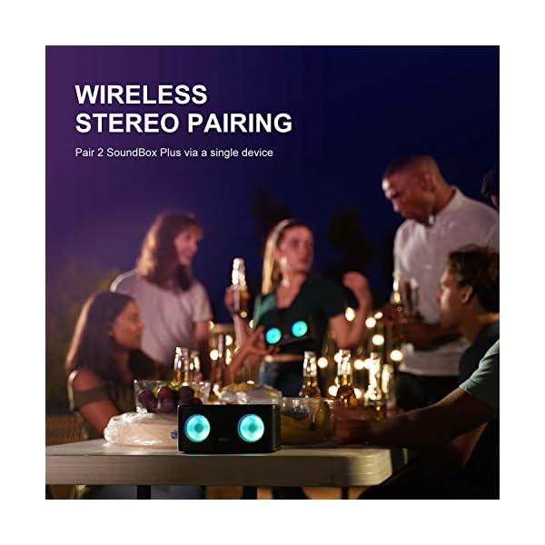 DOSS Bluetooth Enceinte,Haute Parleur sans Fil,Commande Tactile,Son HD et Basses Puissantes,Mains Libres,20 Heures Playtime,Enceintes pour Phone,Tablette et TV,Noir 5