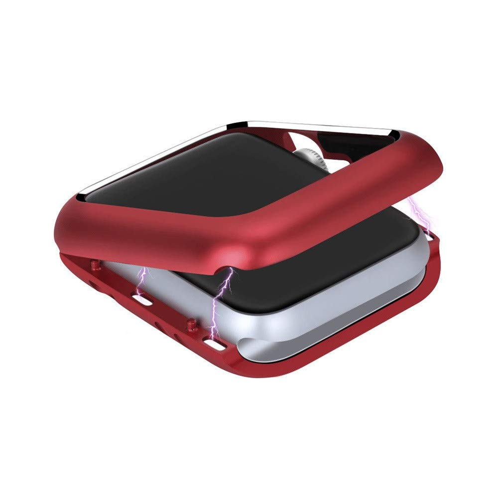 ABASSKY Magnetic Frame Watch Case Protective Cover for Apple Watch Series 4 44mm (Red) by ABASSKY (Image #2)