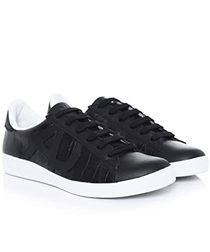 b8051ab2861 Armani Jeans Croc Cup Sole Trainers Black 10 UK  Amazon.co.uk  Shoes ...
