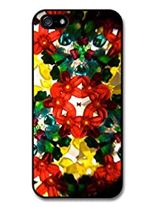 Cool Psychedelic Kaleidoscope with Colourful Hipster Shapes Case For Sam Sung Galaxy S5 Cover