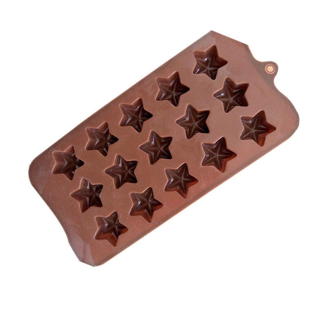 Moldes y bandejas para hielo,Silicone Star Ice Mould (15 grids ...