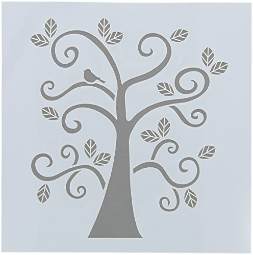 FolkArt Painting Stencil, 30610 Curly - Painting Tree A