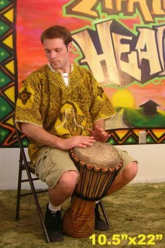 Hand-carved Djembe Drum From Africa 11x22 Ghana Drum Circle Village Djembe