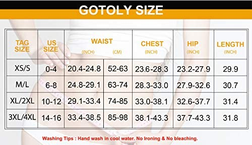 Gotoly Shapewear for Women Scoop Neck Tank Tops Bodysuits Jumpsuits Waist Trainer Full Body Shaper