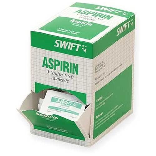 Swift First Aid 161512 Aspirin Tablets 325mg (Pack 250 Pkg/2) by Swift First-Aid