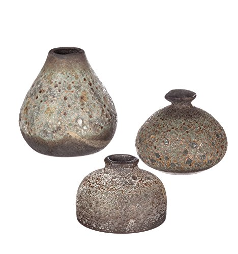 llivans Textured Brown Ceramic Vases (Ceramic Textured Vases)