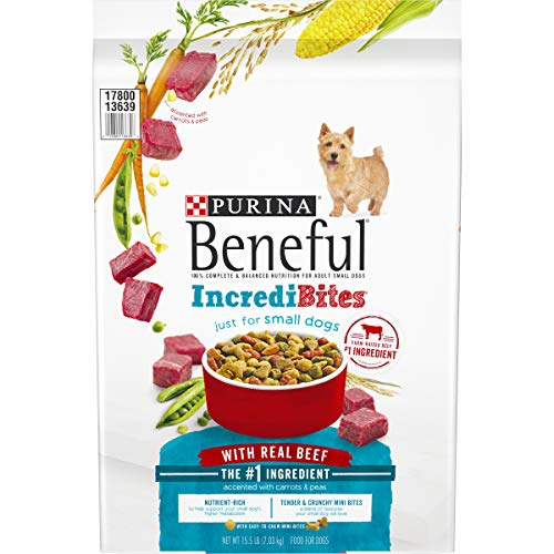 Purina Beneful Small Breed Dry Dog Food, IncrediBites With Real Beef - 15.5 lb. Bag