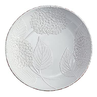 Mud Pie Hydrangea Pasta Bowl, White