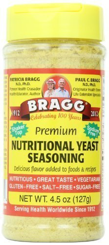 Bragg Live Food Products Premium Nutritional Yeast Seasoning, 4.5 Ounce (Pack of 12)