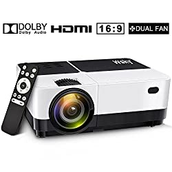 Wsky 2019 Newest LCD LED 2800 Lumens Portable Home Theater Video Projector, 40000 Plus Hours Support HD 1080P Best Outdoor Movie Night, Family, Compatible Phone, PS4, Xbox, HDMI, USB, SD