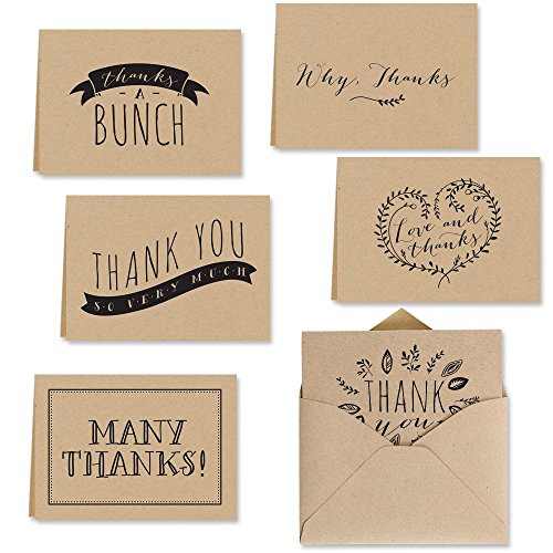 Kraft Thank Note Card Assortment product image