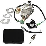 HIPA Carburetor with Air Filter Tune up Kit for Honda EB3500 EB3500X EB3500XK1 EB3800 EM3500X EM3500SX EM3500SXK1 EM3800SX EW140 Generator