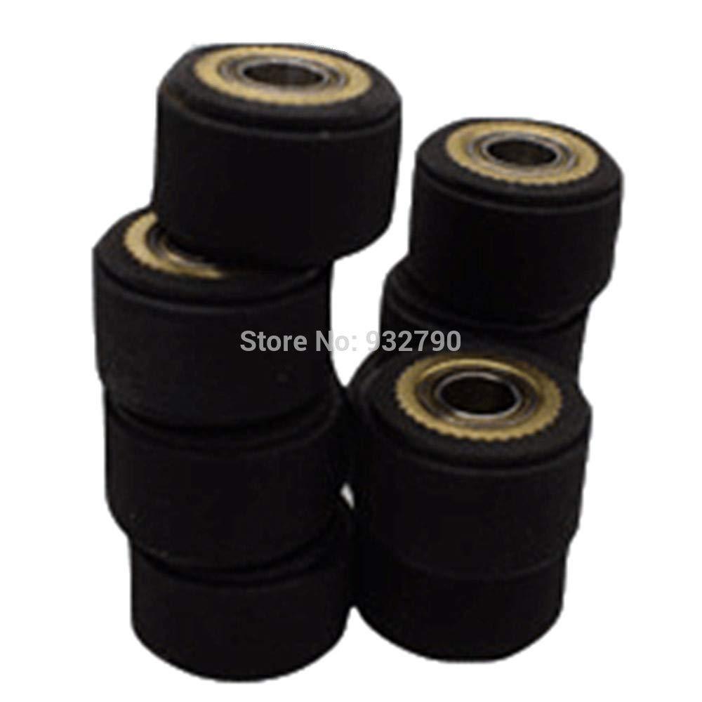 FINCOS 1/2/3/4/5/6pcs 3x11x16mm/4x10x16mm/4x10x14mm/4x11x16mm/5x10x16mm/5x11x16mm Pinch Roller Wheel for Roland Vinyl Plotter Cutter - (Color: 6pcs 4x10x14mm)