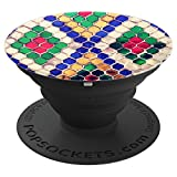 Stained Glass In The Russian Temple For Back To School - PopSockets Grip and Stand for Phones and Tablets