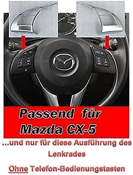 Embellecedores para el volante, 2 unidades, compatible con Mazda CX5 CX-5. Accesorio para interior, nuevo: Amazon.es: Coche y moto