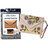 Realeather C4572-00 Silver Edition DIY Envelope Clutch Purse Kit, Natural