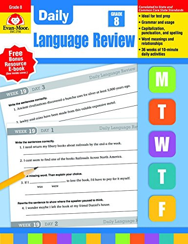 Daily Oral Language (Daily Language Review, Grade 8)