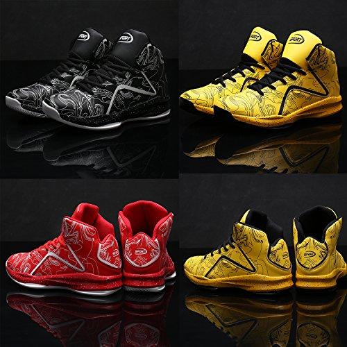 Elaphurus Hi Sneaker Uomo Basket 3 nero Scarpe da Top rfBqvWr1w