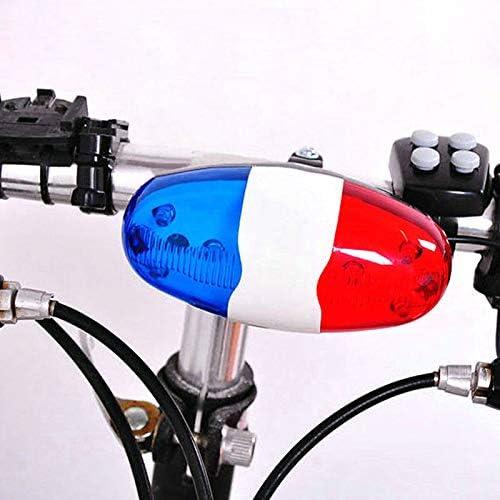 Dastrues Bicicleta 6 LED Intermitente 4 Sonidos Policía Sirena ...