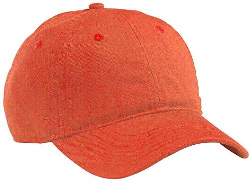 orgánico talla Poppy hombre mujer 100 Gorra única Orange gris béisbol Twill econscious tamaño ajustable color algodón claro de nFWBx6z4