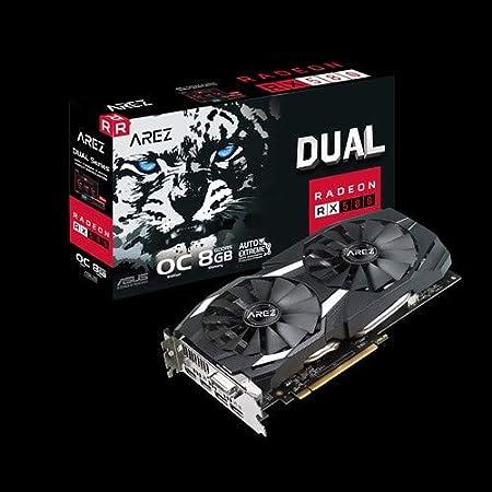 ASUS AREZ-DUAL-RX580-O8G Radeon RX 580 8 GB GDDR5 - Tarjeta ...
