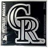 "Colorado Rockies 6"" Metallic MAGNET Silver Style Vinyl Die Cut Auto Home Baseball"