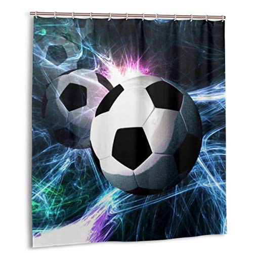 COCB-14 Waterproof Shower Curtain, Soccer Science Fiction Shower