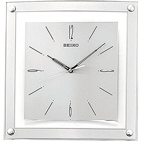 Contemporary 1225 Inch Square Quiet Analog Wall Clock