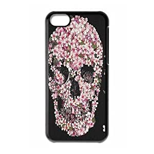 Skull Donut High Qulity Customized Cell Phone Case for iPhone 5C, Skull Donut iPhone 5C Cover Case
