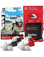 Alpine MotoSafe Pro Motor oordoppen voor Touring & Racing - Voorkomt gehoorbeschadiging van windruis bij motorrijden - 2 sets oordoppen - Verkeer nog steeds hoorbaar - Hypoallergeen materiaal - herbruikbaar