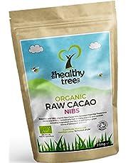 Fèves de Cacao BIO cru - Magnésium, fibre, potassium et fer - Parfait sur le yaourt, le céréale et les Smoothies - Fèves de cacao cru bio par TheHealthyTree Company