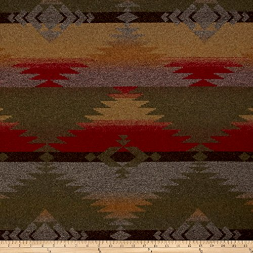 Ralph Lauren Home LCF66759F Red Rock Blanket Melton Wool Woodmoss Fabric by The Yard