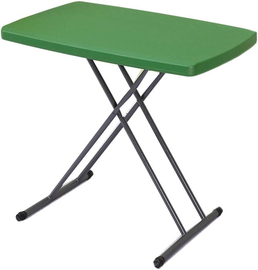 SZQ-Mesa de centro Tabla plástico, plegable soporte metálico Mesa Hogar Apartamento pequeño jardín de infancia de escritorio ajustable Mesa de niño Mesa de sofá ( Color : A , Size : 75CM*50CM*75CM )