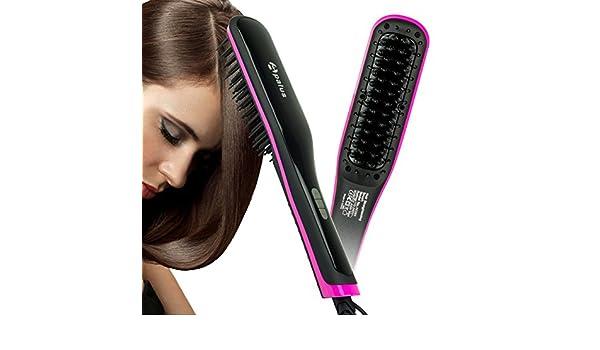 Apalus® Cepillo alisador de cabello, alisador de cerámica y ...