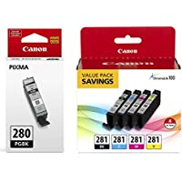 Canon CLI-281 BKCMY 4-Color Ink Tank Value Pack...