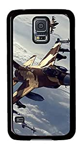 Samsung Galaxy S5 Air Combat Manoeuvring PC Custom Samsung Galaxy S5 Case Cover Black