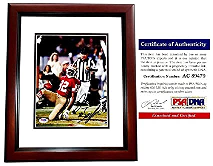 John Taylor Signed - Autographed San Francisco 49ers 8x10 inch Photo  MAHOGANY CUSTOM FRAME - PSA 6d2a00a67