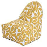 Majestic Home Goods Kick-It Chair, Plantation, Yellow Review and Comparison