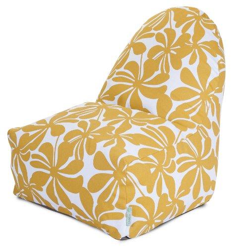 Majestic Home Goods Kick-It Chair, Plantation, Yellow